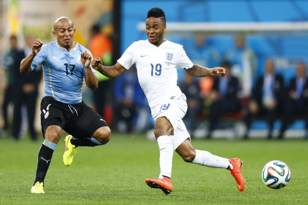 Egidio Arevalo Rios of Uruguay and Raheem Sterling of England_EUO_AGIF-shutterstock