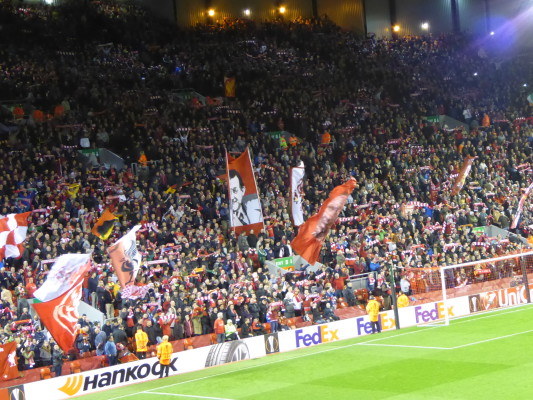 The Kop in full flow