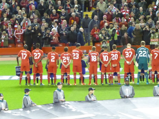 Liverpool Line Up