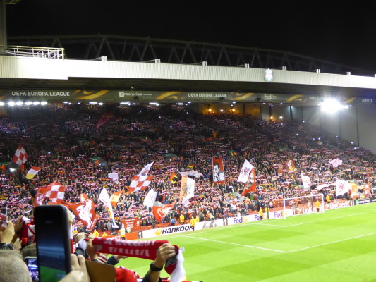 The Kop Waving Flags